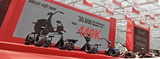 Xe điện bánh to Harley 449k 2
