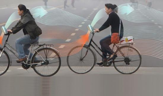 Xe đạp hút khói bụi