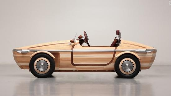 Xe Toyota tương lai có thể làm từ gỗ 1