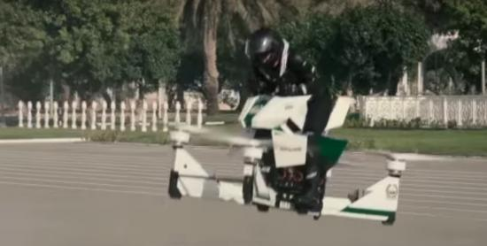 """Hết siêu xe, cảnh sát Dubai lại """"khoe"""" mô tô bay"""