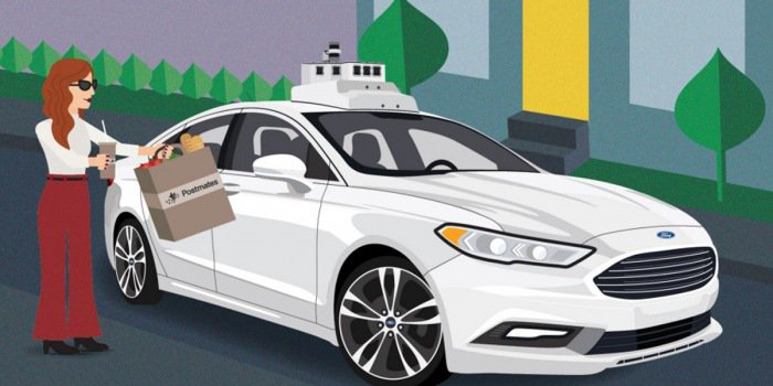 """Ford dùng xe tự lái làm """"shipper"""""""