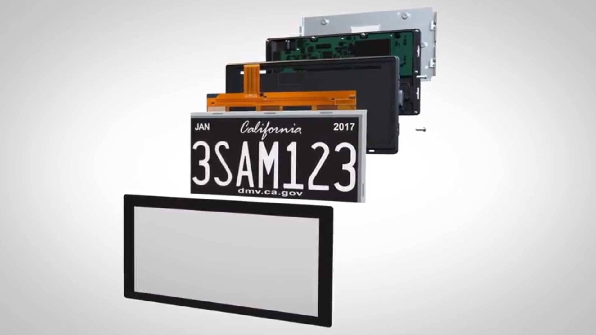 Biển số xe kỹ thuật số RPlate Pro 1