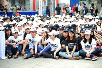 Honda Việt Nam lập kỷ lục xếp hình logo eSP