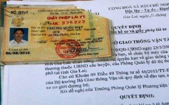 Phát hiện nhiều giấy phép lái xe giả giống như… thật