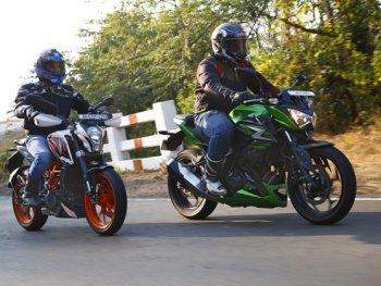 KTM Duke & Kawasaki Z250 - màn tỉ thí mở đầu một cuộc chiến