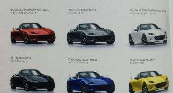 Rò rỉ thông tin các lựa chọn màu của Mazda Mx-5 2016