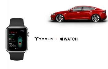 Xe điện Tesla có thể kết nối với Apple Watch