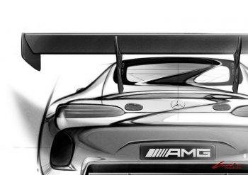 """Mercedes AMG GT3 """"lộ"""" bản phác thảo"""