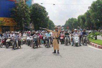 Hà Nội thực hiện cấm xe tại hàng loạt tuyến phố phục vụ IPU