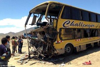 Peru: Tài xế xe bus ngủ gật khiến 40 người thiệt mạng