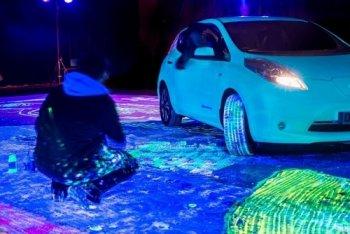 Tranh phát sáng của Nissan lập kỷ lục thế giới