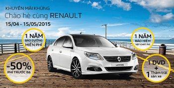 Renault Việt Nam tặng một loạt dịch vụ khuyến mãi