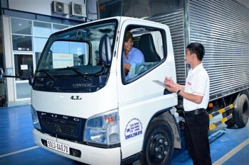 FUSO  tổ chức kiểm tra xe tải Canter miễn phí