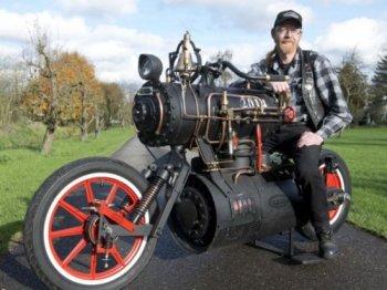 Xe máy chạy bằng động cơ hơi nước