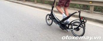 """""""Ông Tây"""" lướt xe đạp siêu độc trên phố Hà Nội"""