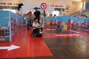 Học sinh tiểu học Đà Nẵng tham gia Ngày hội giao thông an toàn
