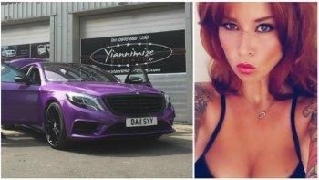 Mercedes S-Class độ màu tím mộng mơ cho quý bà lãng mạn