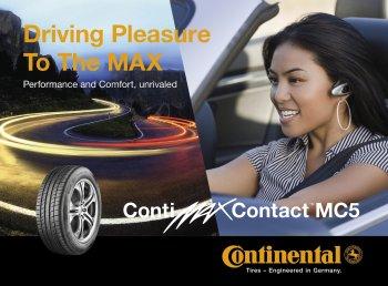 Dòng lốp Continental ContiMaxContact MC5 – thêm lựa chọn cho khách hàng Việt