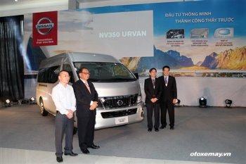 Nissan Việt Nam ra mắt xe 16 chỗ NV350 Urvan