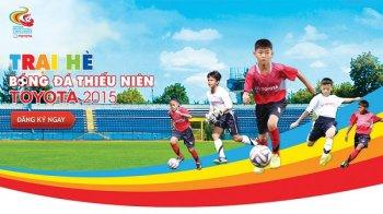 Sau V-League 2015, Toyota tiếp tục đồng hành cùng bóng đá trẻ