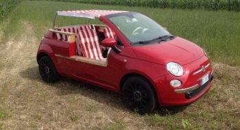Fiat 500 Jolly phong cách bãi biển hạ nhiệt mùa hè