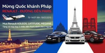 Renault Việt Nam tặng vé du lịch Paris miễn phí