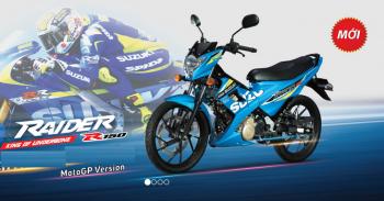 Suzuki Raider cũng theo phong cách motoGP đua với Honda và Yamaha
