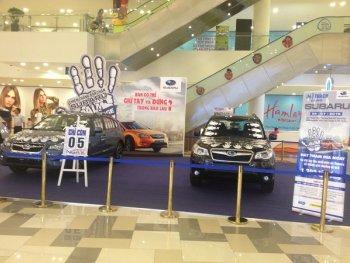 Cuộc thi đặt tay trúng xe Subaru tại Sài Gòn 2015 có nét mới