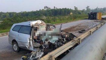 Thêm một tai nạn nghiêm trọng trên đường cao tốc Hà Nội – Thái Nguyên