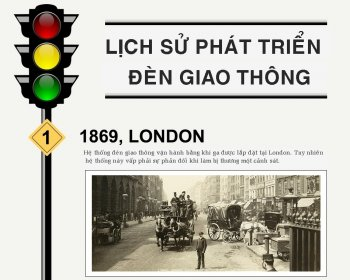 [Infographic] 101 năm lịch sử đèn giao thông