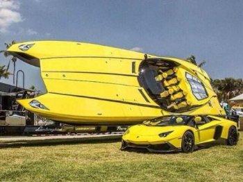 Dân chơi xe tậu siêu du thuyền phong cách Lamborghini