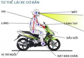Ngồi xe máy thế nào mới đúng