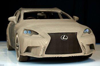 Xe Lexus làm từ… bìa cát tông