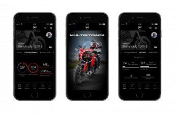Xe Ducati có ứng dụng kết nối smartphone