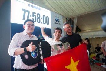 Lần đầu tiên người Việt giành giải xe Subaru tại Singapore