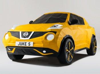 Xe Nissan ghép từ 2.000 mảnh giấy