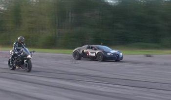 Kawasaki Ninja H2 đả bại 'ông hoàng tốc độ' Bugatti Veyron