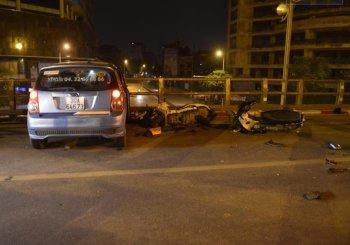 Taxi gây tai nạn liên hoàn khiến 10 người bị thương