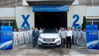 Hyundai SantaFe lắp ráp tại Việt Nam cán mốc 4.000 chiếc