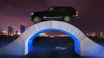 Xế sang Range Rover dũng cảm vượt qua cầu bằng giấy