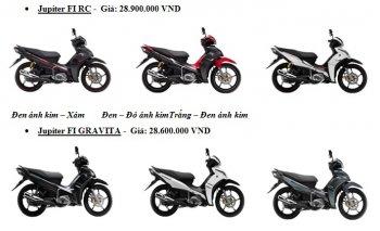 """Loạt xe Yamaha phiên bản màu mới """"đổ bộ"""" thị trường Việt"""