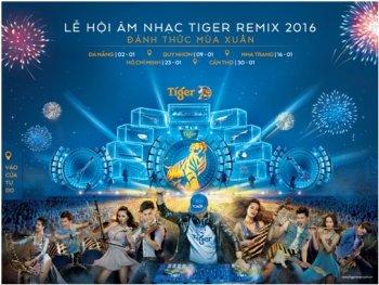 Đại nhạc hội Tiger Remix 2016 sắp bắt đầu