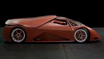 Tay đua tự chế siêu xe bằng gỗ