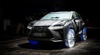 Lexus NX nổi bật với bánh xe làm từ băng