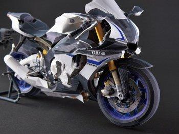 Tự tạo siêu mô tô Yamaha YZF-R1M bằng giấy siêu dễ