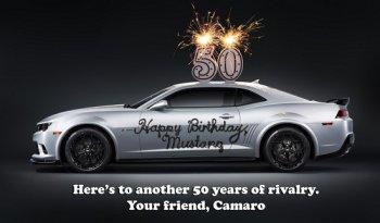 GM lịch lãm mừng sinh nhật Ford Mustang bằng Camaro