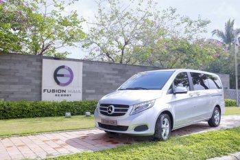 Fusion Maia Đà Nẵng đưa đón khách bằng xe Mercedes-Benz V-Class