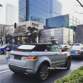 Range Rover Evoque mui trần bất ngờ xuất hiện tại Trung Quốc