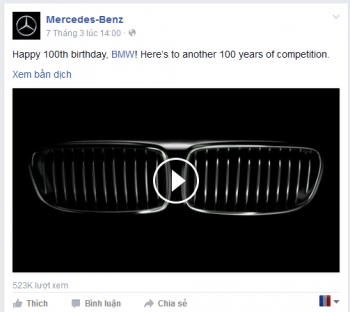 "Mercedes-Benz ""chọc ngoáy"" trong dịp kỷ niệm sinh nhật thứ 100 của BMW"