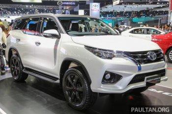 Toyota Fortuner TRD Sportivo 2016 ra mắt tại Thái Lan
